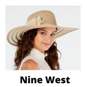 Nine West Packable Super Floppy Hat with Flower